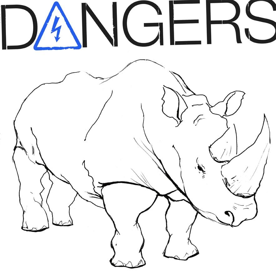 """Image of DANGERS """"ANGER"""" LP VIT010 White Vinyl"""