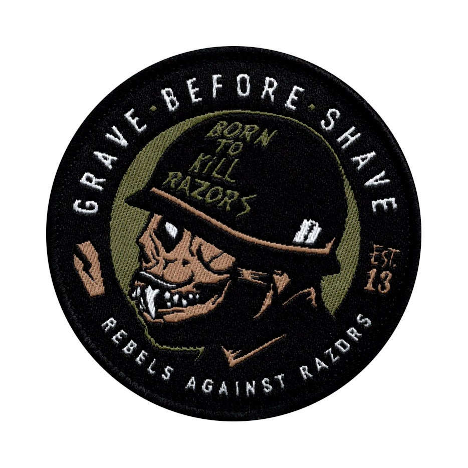 "Image of GBS Rebels Against Razors ""BORN TO KILL"" patch"