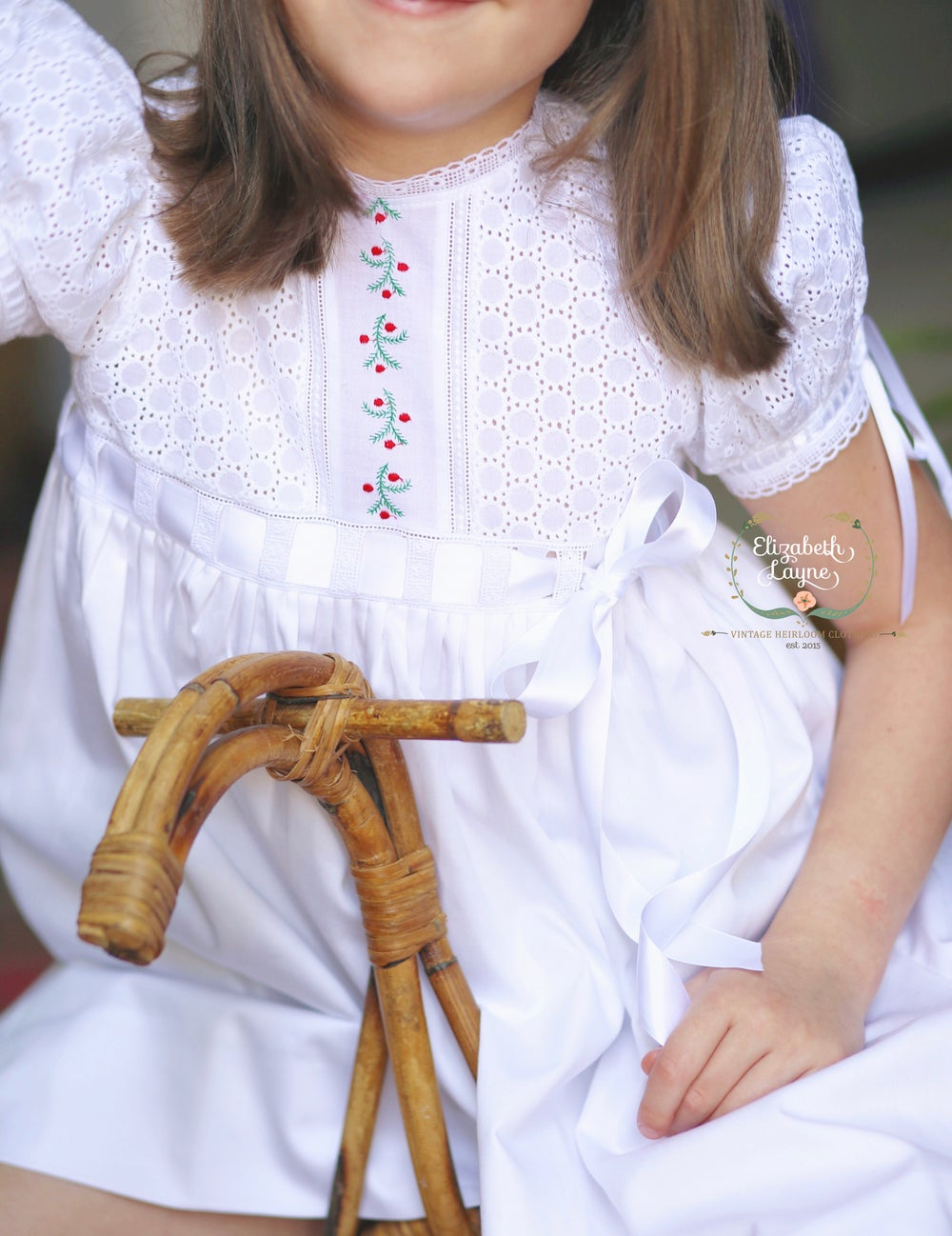 Image of Holiday Primrose Heirloom Dress & Bubble