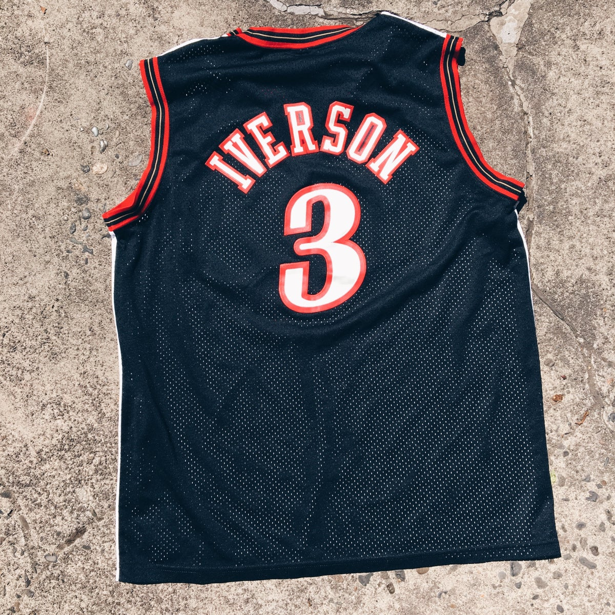 Image of Original Early 2000's Nike Allen Iverson Cut n Sew Home/Away Jersey.