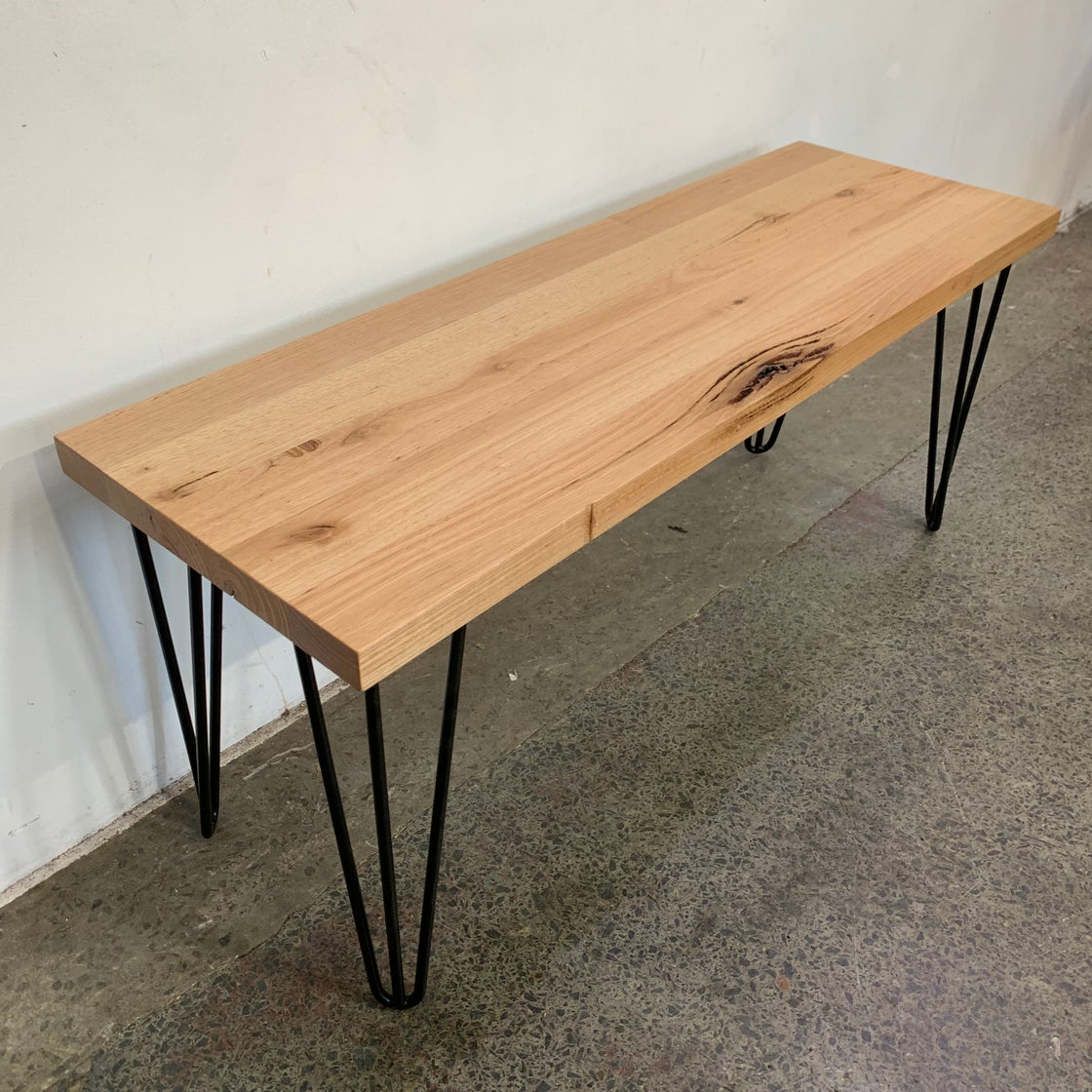 Image of INDUSTRIAL TABLE WITH BENCH SEATS
