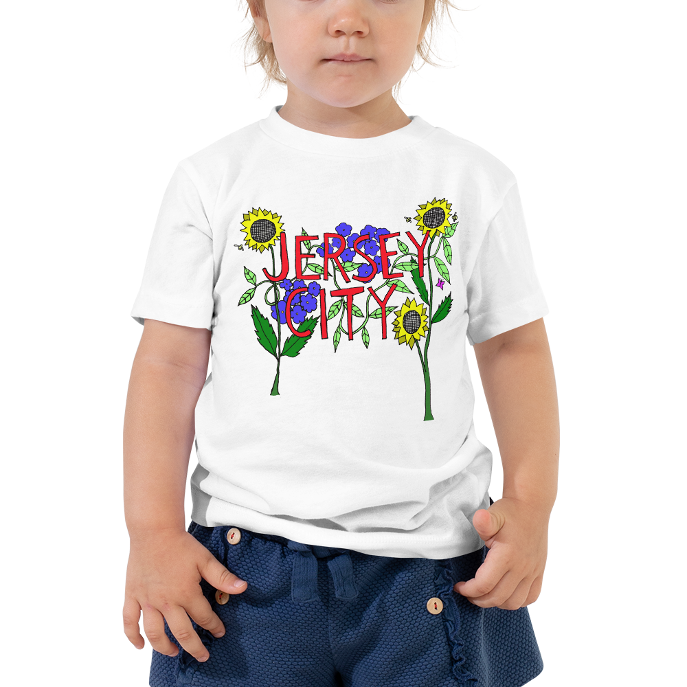 Image of Jersey City flowers - toddler tshirt