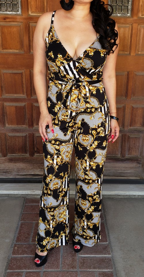 Image of Venice Print Jumpsuit