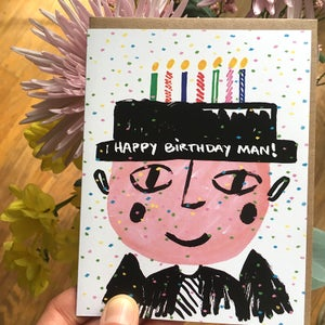 Image of Happy Birthday Man, Card