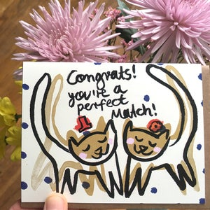 Image of Congrats! You're a perfect match! Card
