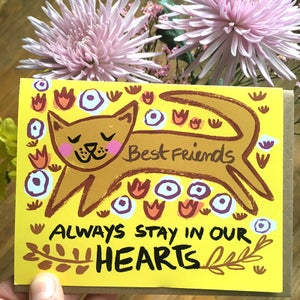 Image of Best Friends Always Stay in our Hearts (Cat), Card