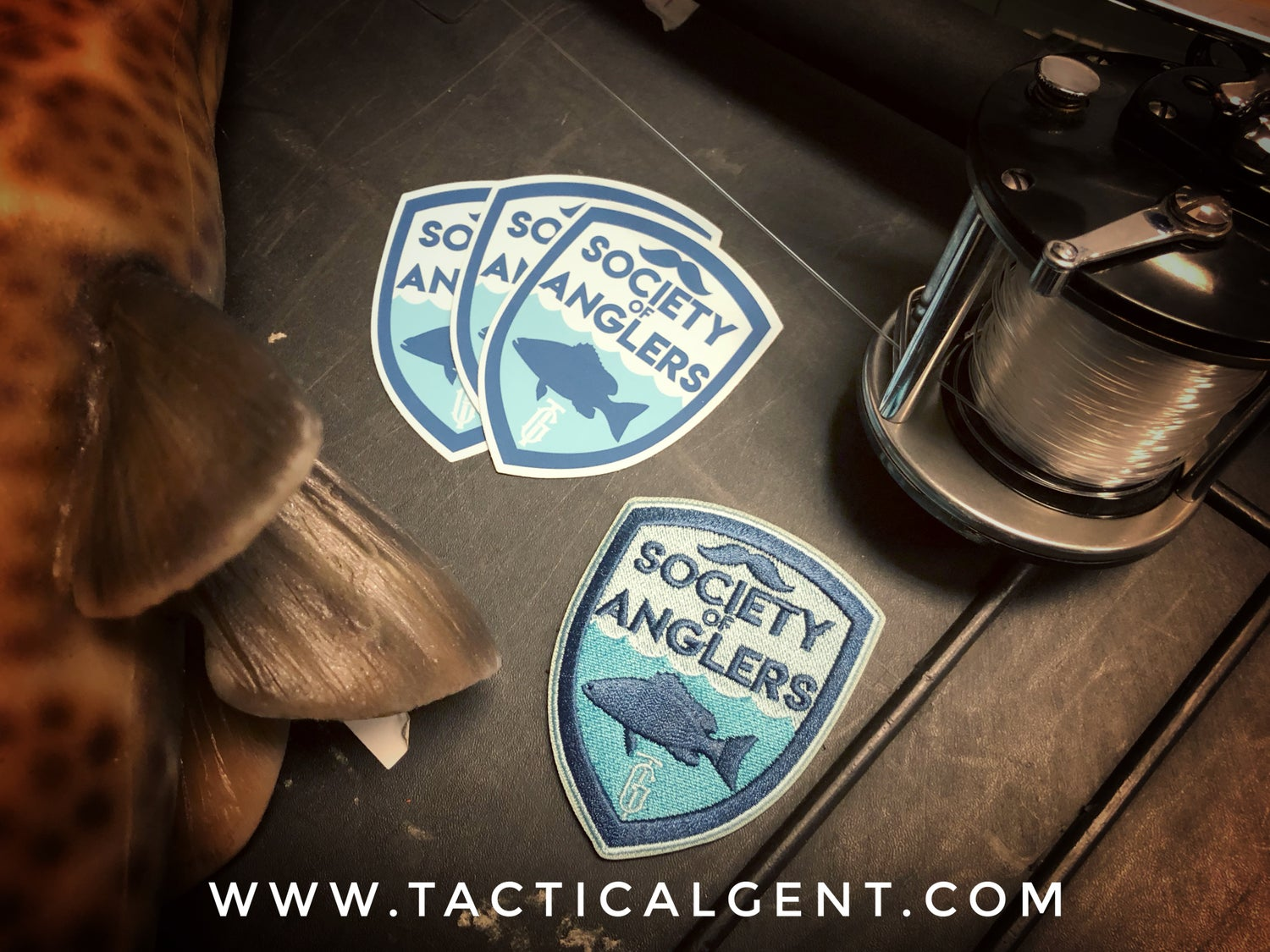 Image of Society of Anglers Morale Patch & Decal Set