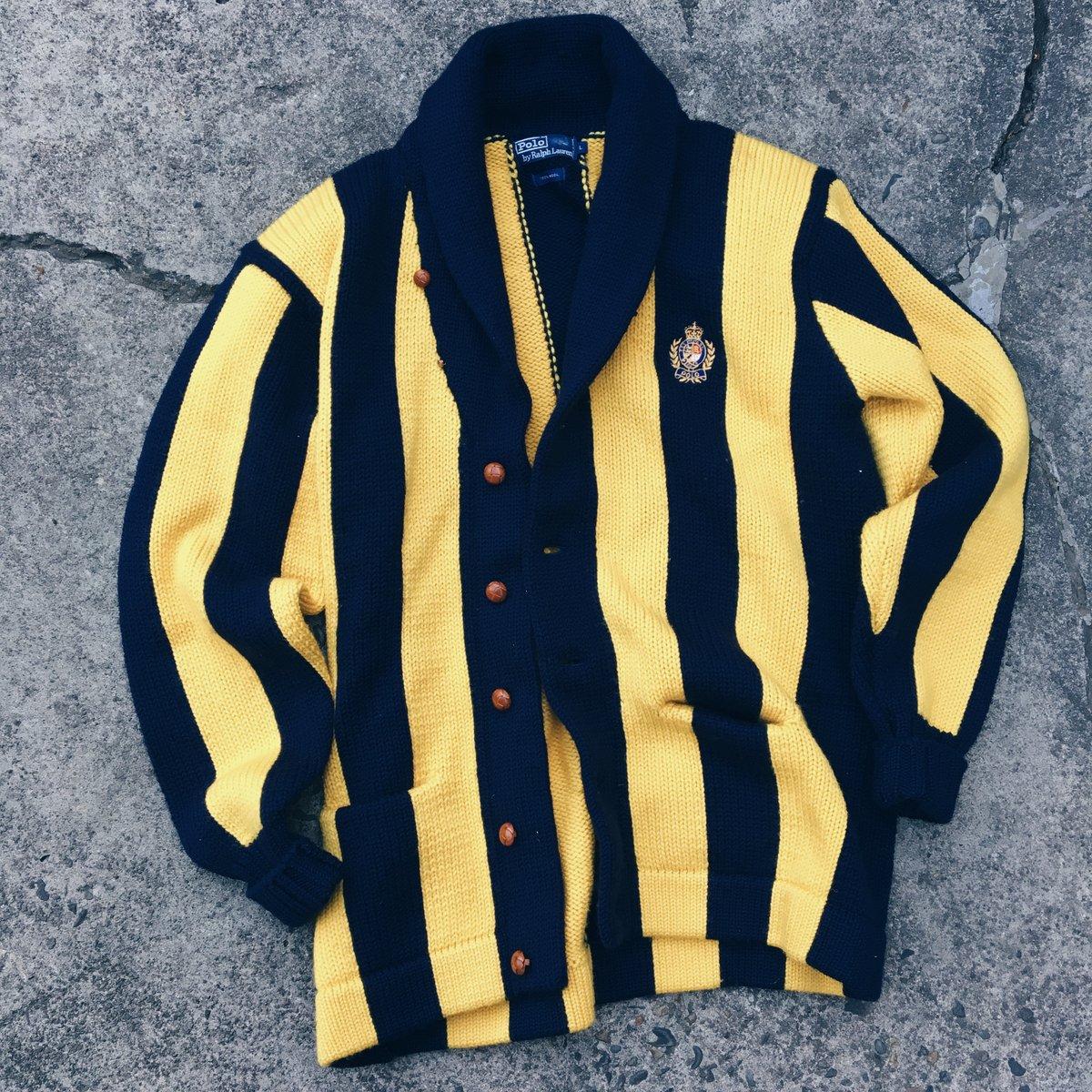 "Image of Original Early 90's 100% Wool Polo Ralph Lauren ""Uni"" Cardigan Shawl."
