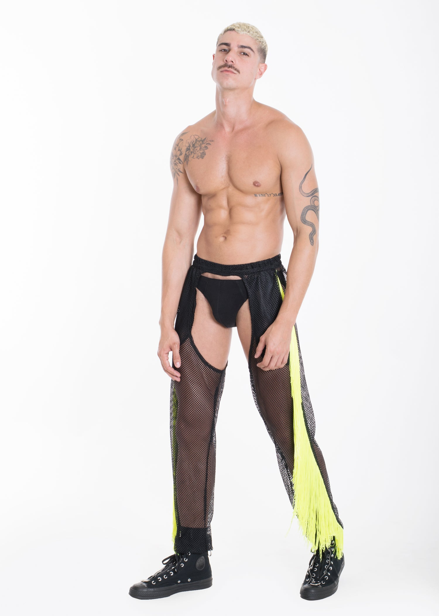 Image of HCITY FRINGE CHAPS-BLACK