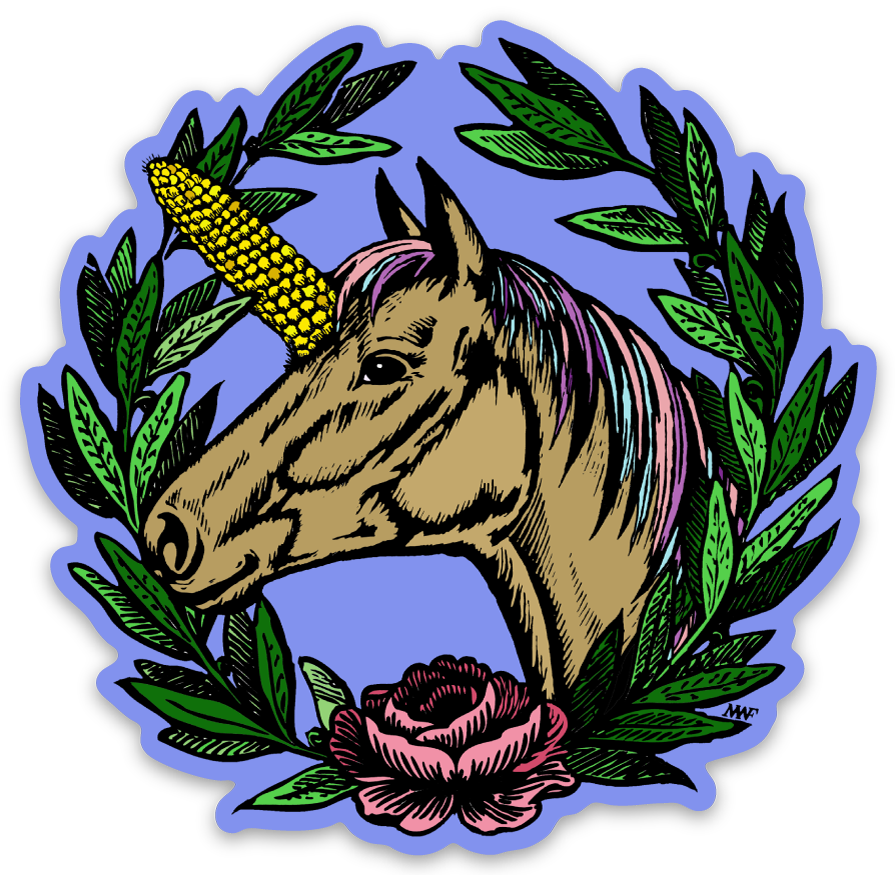 Image of Uni-Corn Vinyl Sticker