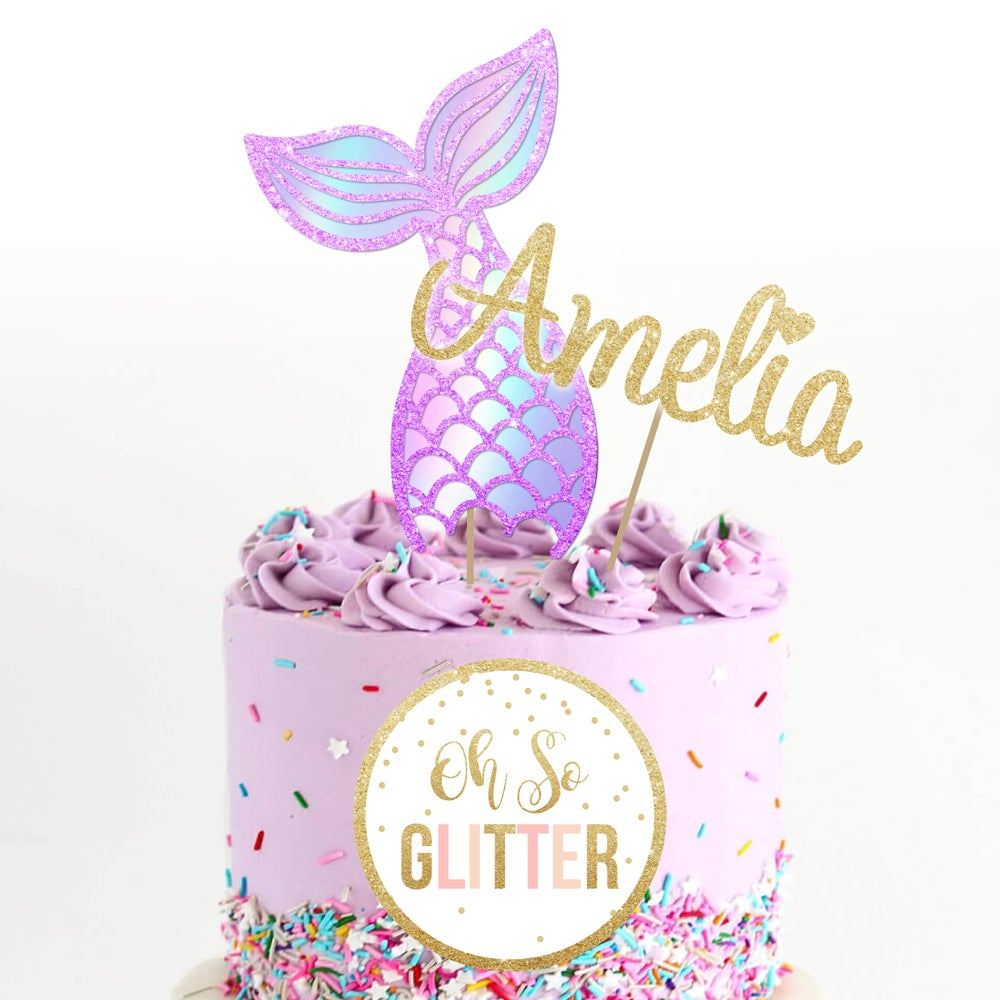 Image of Mermaid Tail Cake Topper