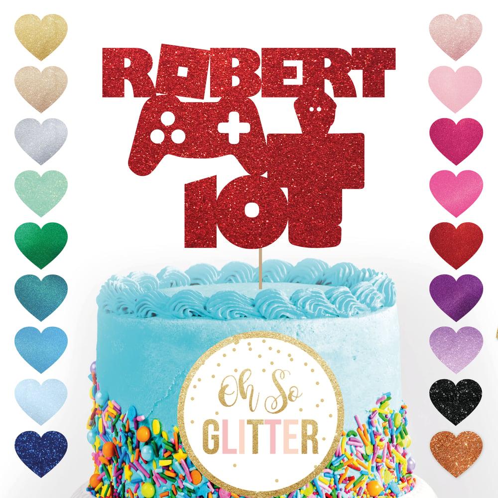 Image of Roblox Custom Cake Topper