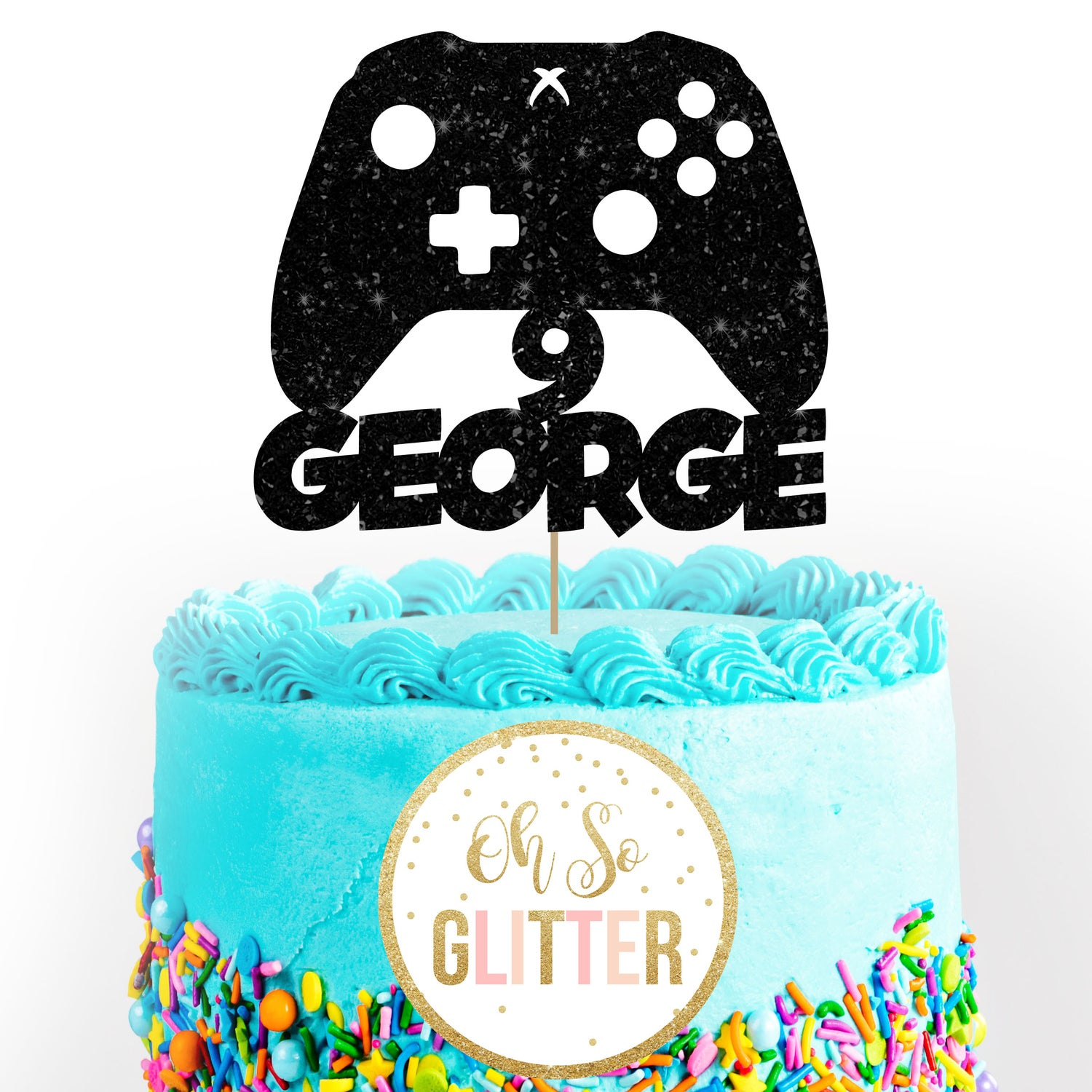 Image of Xbox Gamer Cake Topper