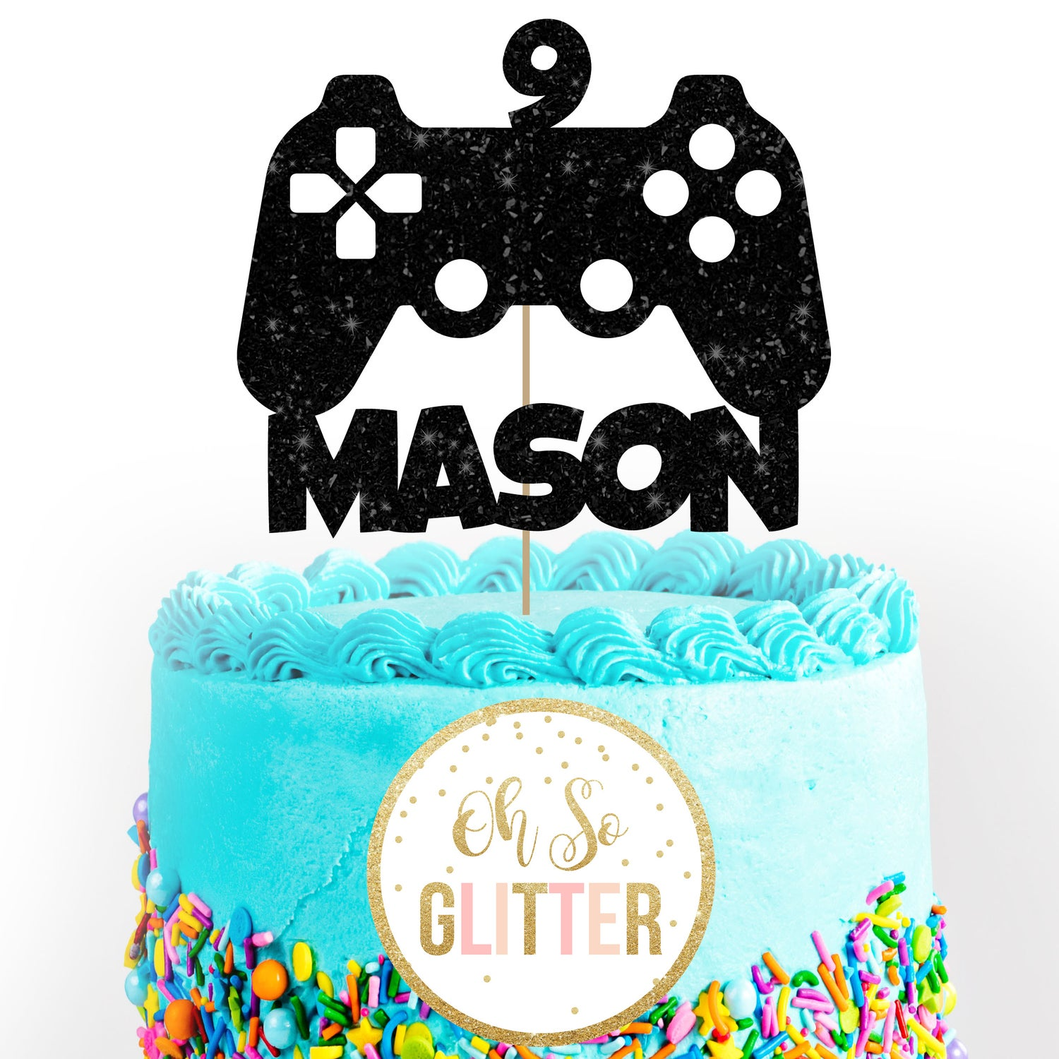 Magnificent Ps4 Playstation Gamer Cake Topper Oh So Glitter Funny Birthday Cards Online Alyptdamsfinfo
