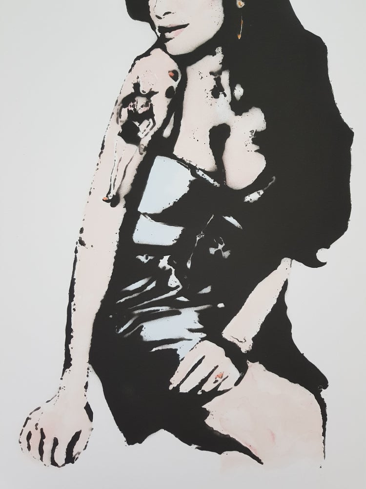 """Image of BAMBI """"AMY WINEHOUSE"""" - XL BLUE EDITION OF 35 - 111.8CM X 76.2CM"""
