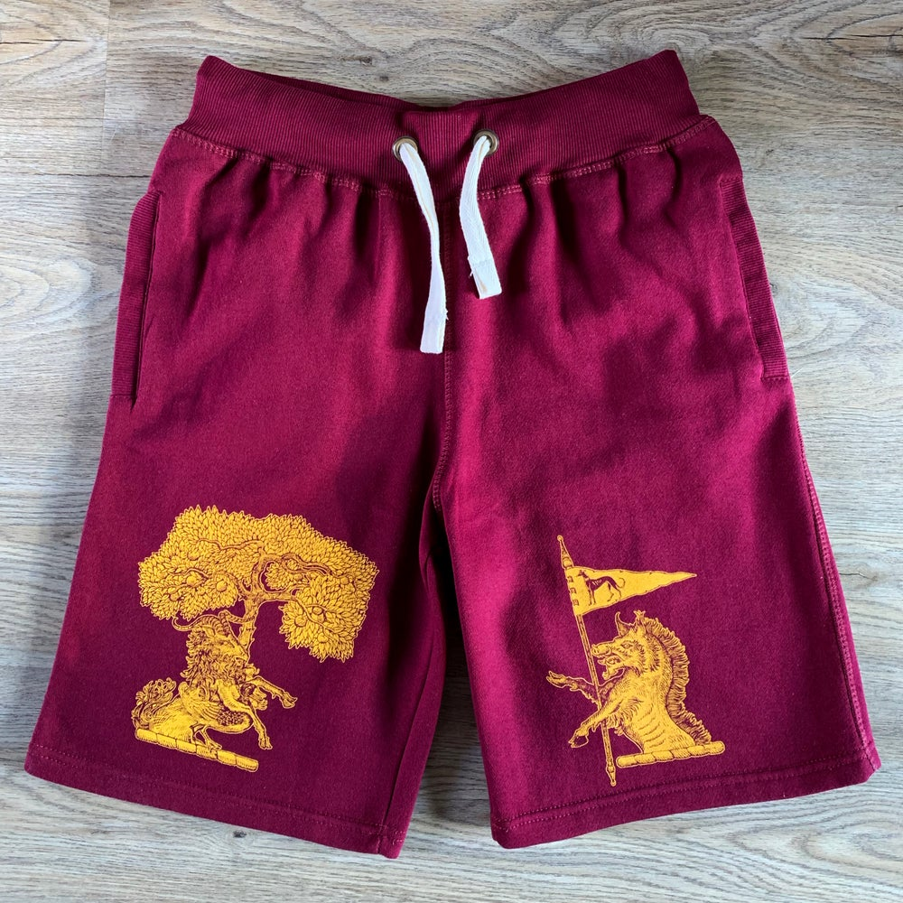 Image of Sin-Eater *Burgundy Shorts*