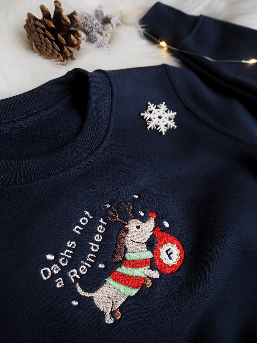 Image of Dachs Not A Reindeer - (Sweatshirt Navy)