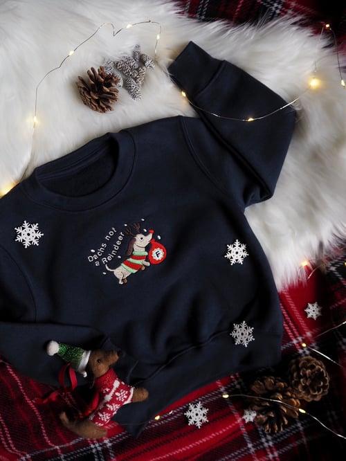 Image of Dachs Not A Reindeer - (Sweatshirt Navy)
