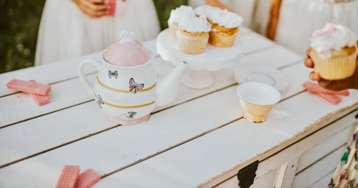 Image of Beautiful Butterfly Tea Set