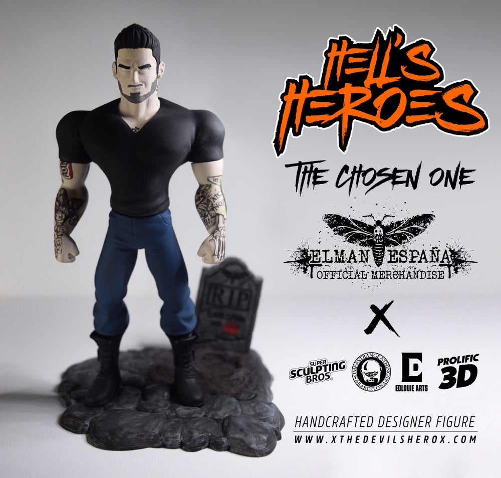 "Image of Hell's Heroes: ""The Chosen One"" Elman España Handcrafted Designer Figure"