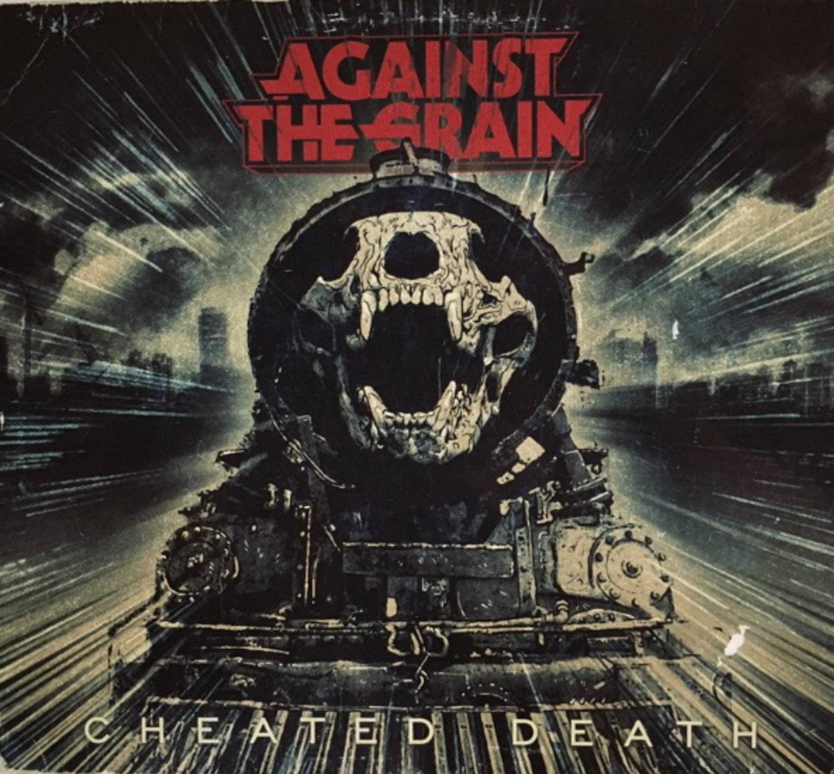Image of Against the Grain - Cheated Death Blood Red Worldwide Freight Train Edition LP