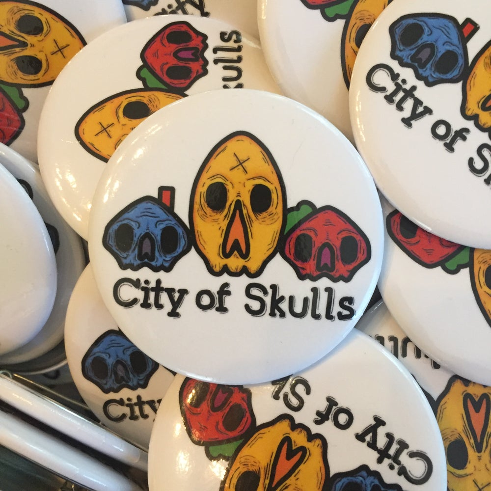 Image of City of Skulls Button