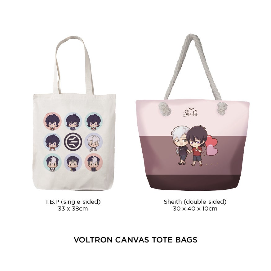 Image of Voltron Canvas Totebags