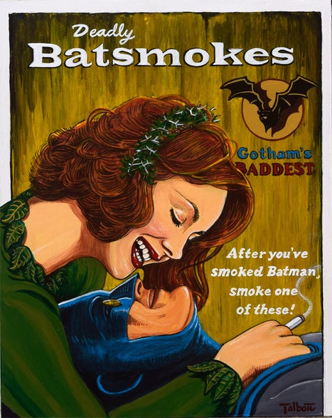 "Image of ""Deadly Bat-Smokes"" signed gallery wrapped Giclee"