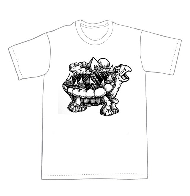 Image of Weight of the world Turtle T-shirt **FREE SHIPPING**