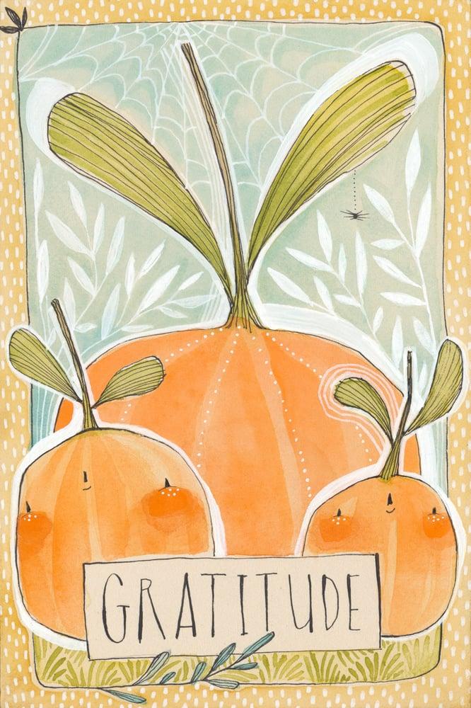 Image of gratitude, an original fall themed painting, by cori dantini