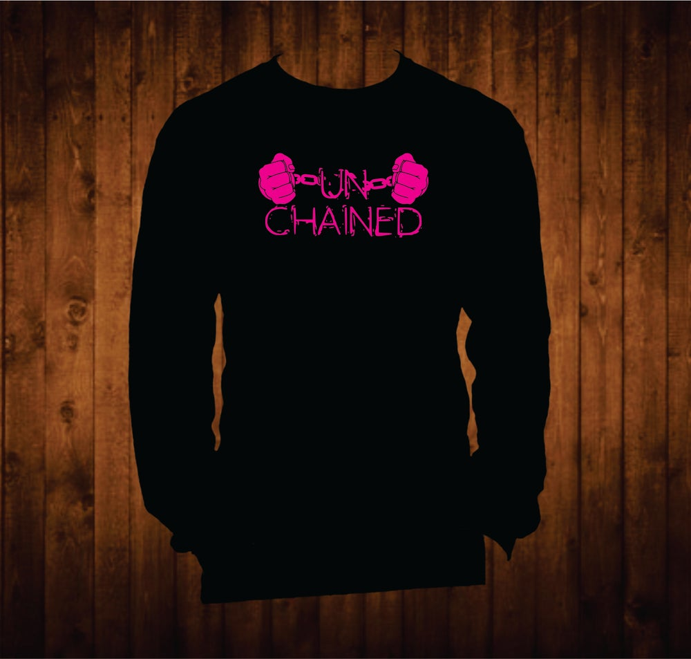 Image of Hot Pink Unchained Hands Long Sleeved