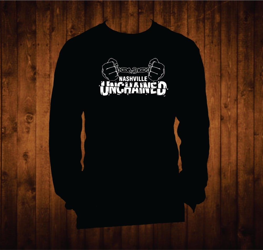 Image of Nashville Unchained White Hands Long Sleeve