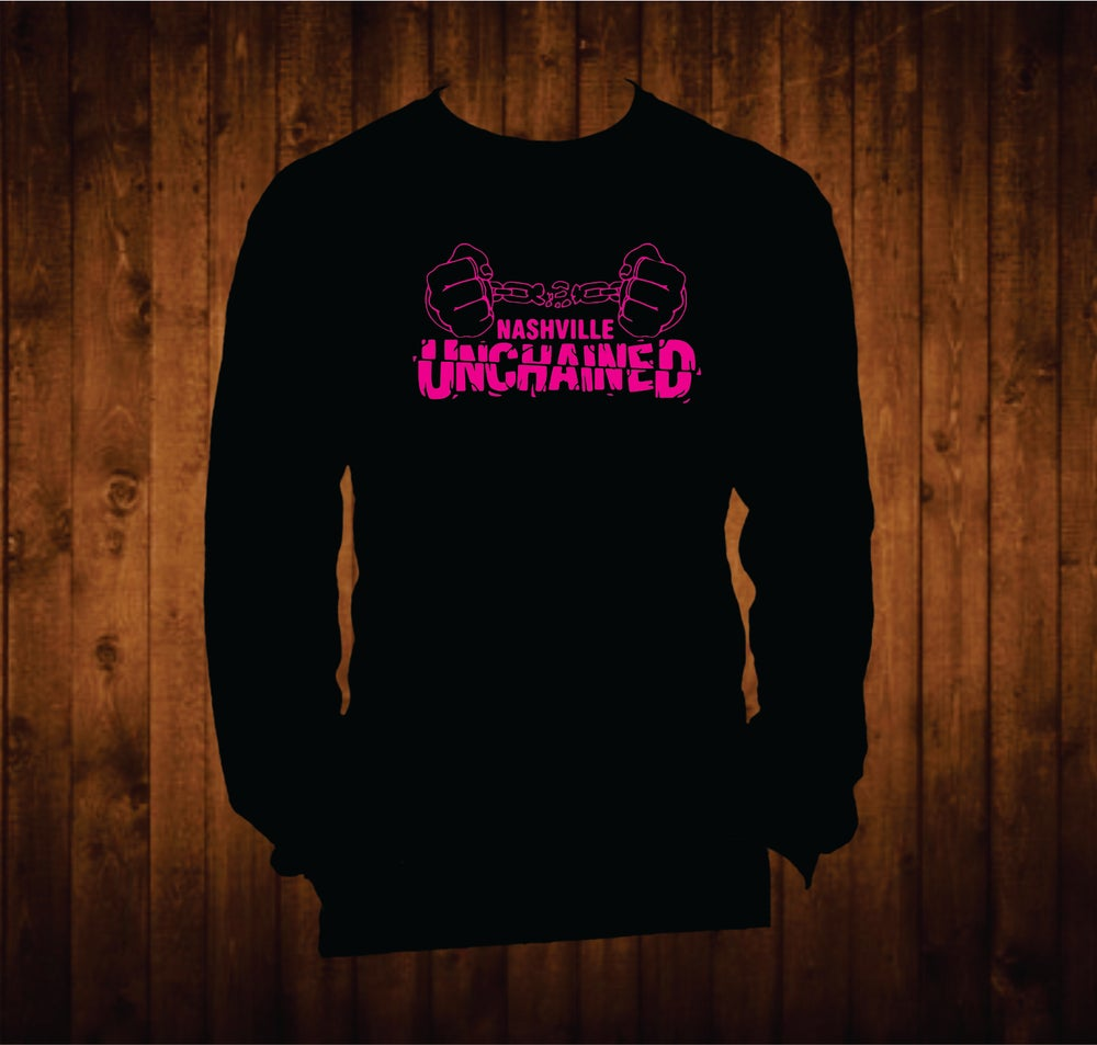 Image of Nashville Unchained Hot Pink Long Sleeved