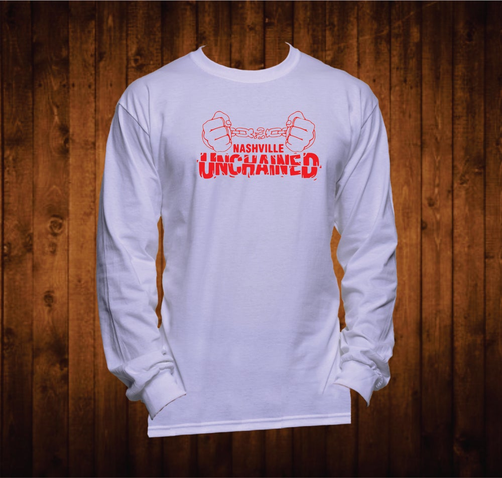 Image of Nashville Unchained Red Hands Long Sleeved