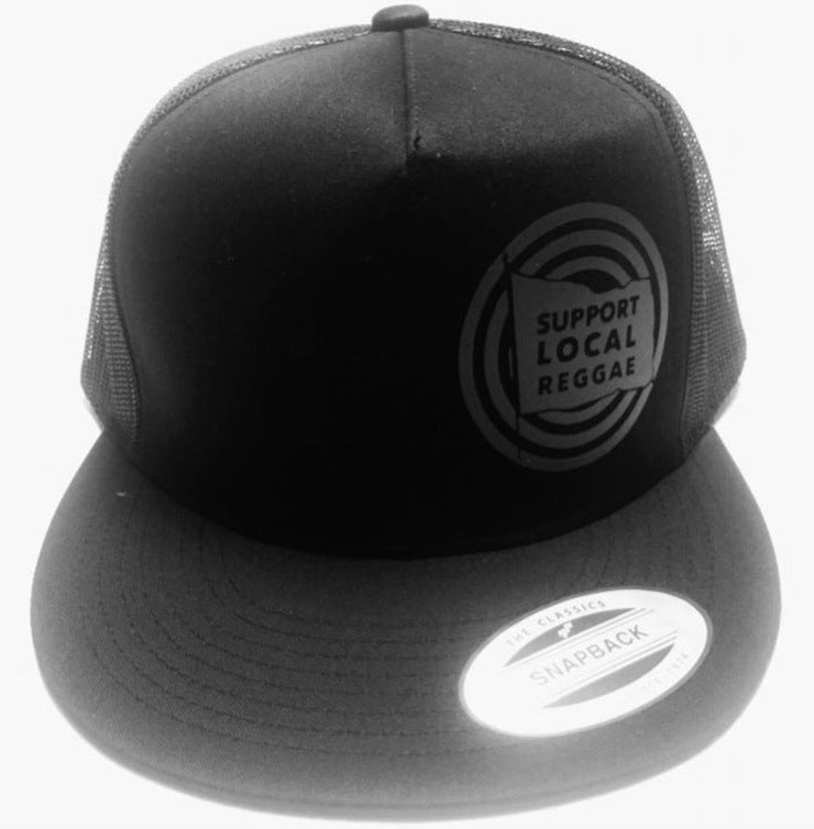 Image of SUPPORT LOCAL REGGAE BLACKOUT - SNAPBACK TRUCKER HAT