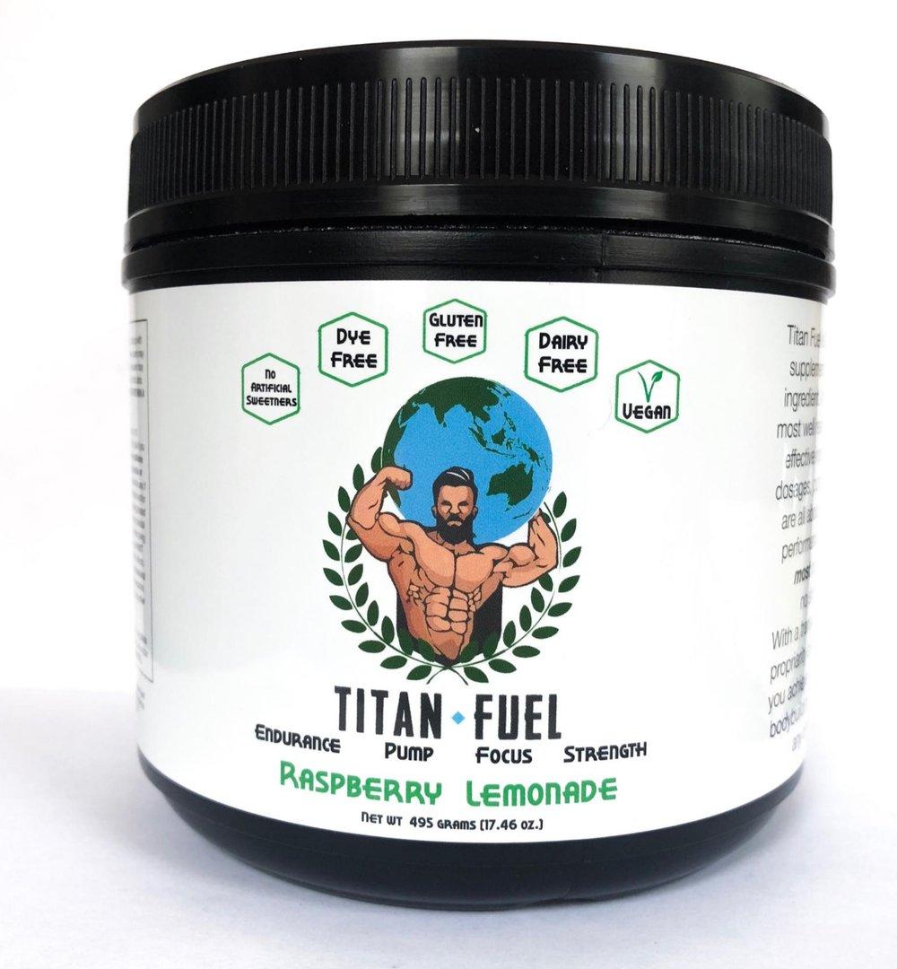 Titan Fuel Pre-Workout Raspberry Lemonade