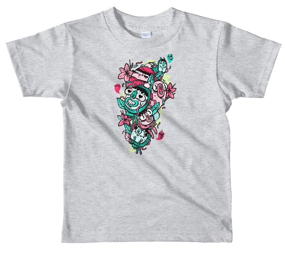 Image of Kids Design 1 -Jersey T-Shirt  | American Apparel 2105W (Heather Grey )