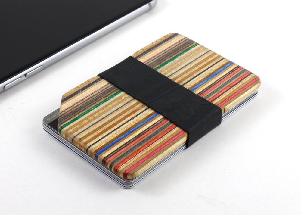 Image of  Minimalist Slim Wallet made from Recycled Skateboards