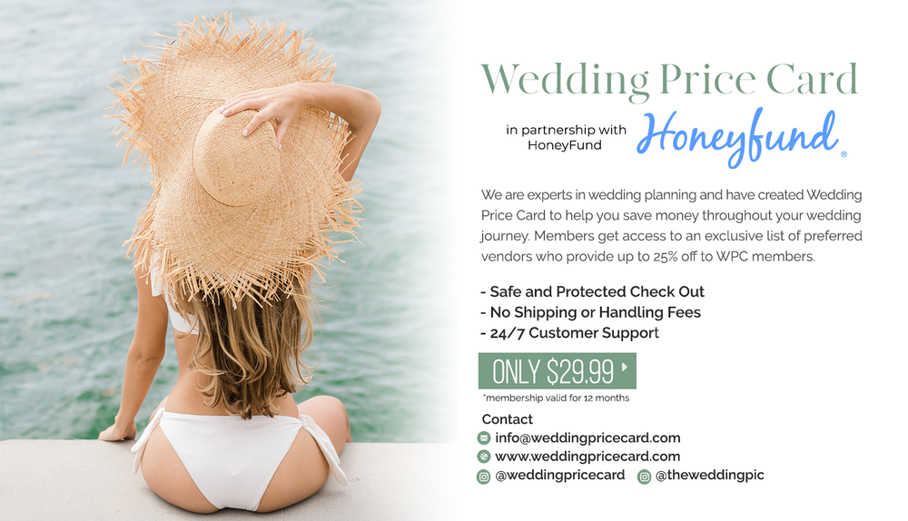 Image of Honeyfund x Wedding Price Card Membership