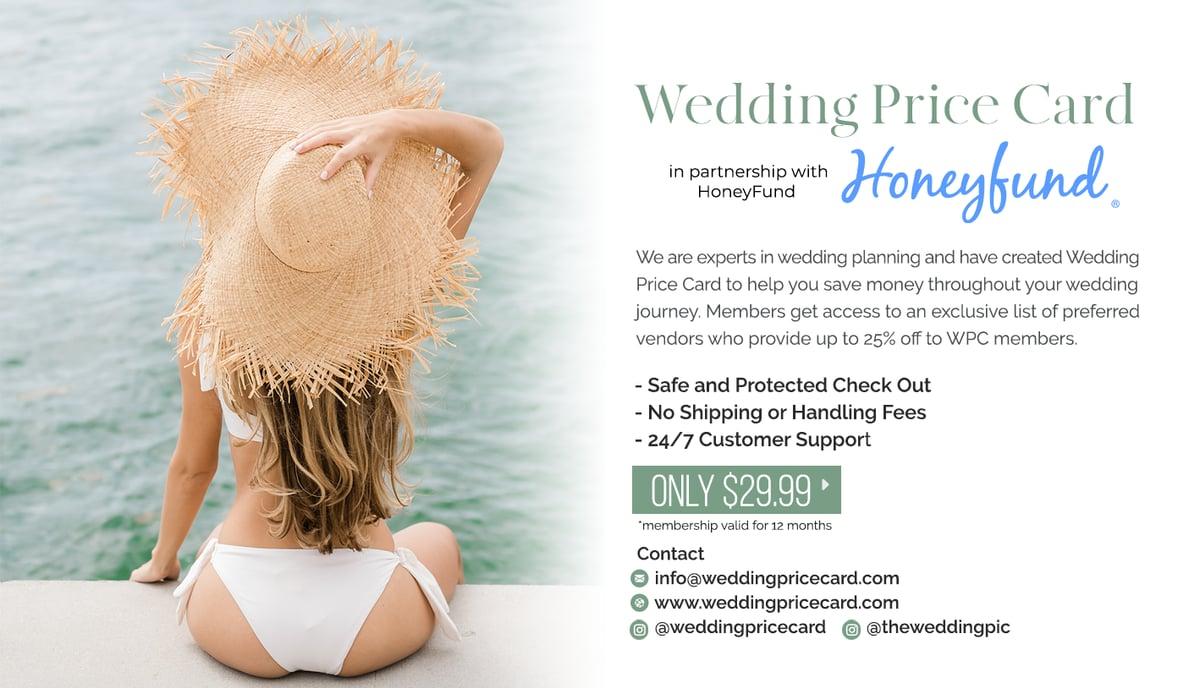 Image of Honeyfund x Wedding Price Card Membership