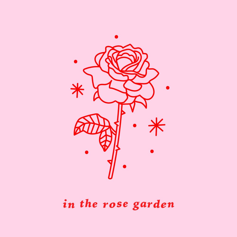 Image of In The Rose Garden - Holo Rose Hoops