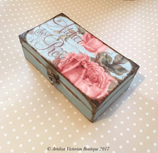 Decoupage Jewellery Box, Shabby Elegance, Chocolate Box