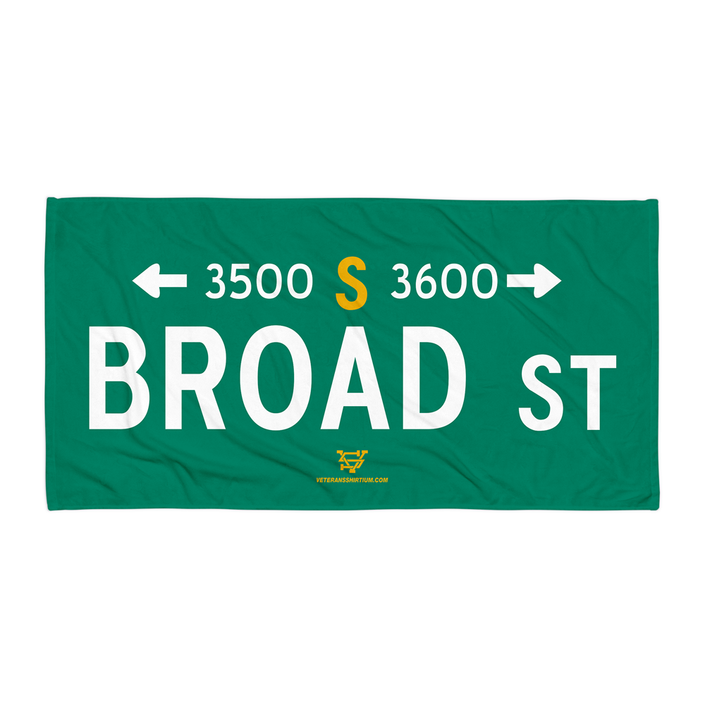 Image of Broad Street Beach Towel