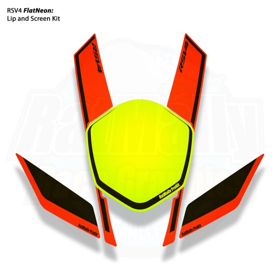 "Image of Aprilia FlatNeon HighLight and ""a"" Graphics Kit"
