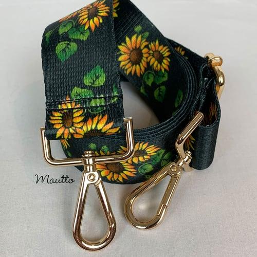 Image of Garden Daisy / Sunflowers Strap for Handbags - Spring Summer Floral Design - Guitar-inspired Strap