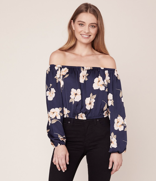 Image of BB DAKOTA BLUE GARDENIA TOP