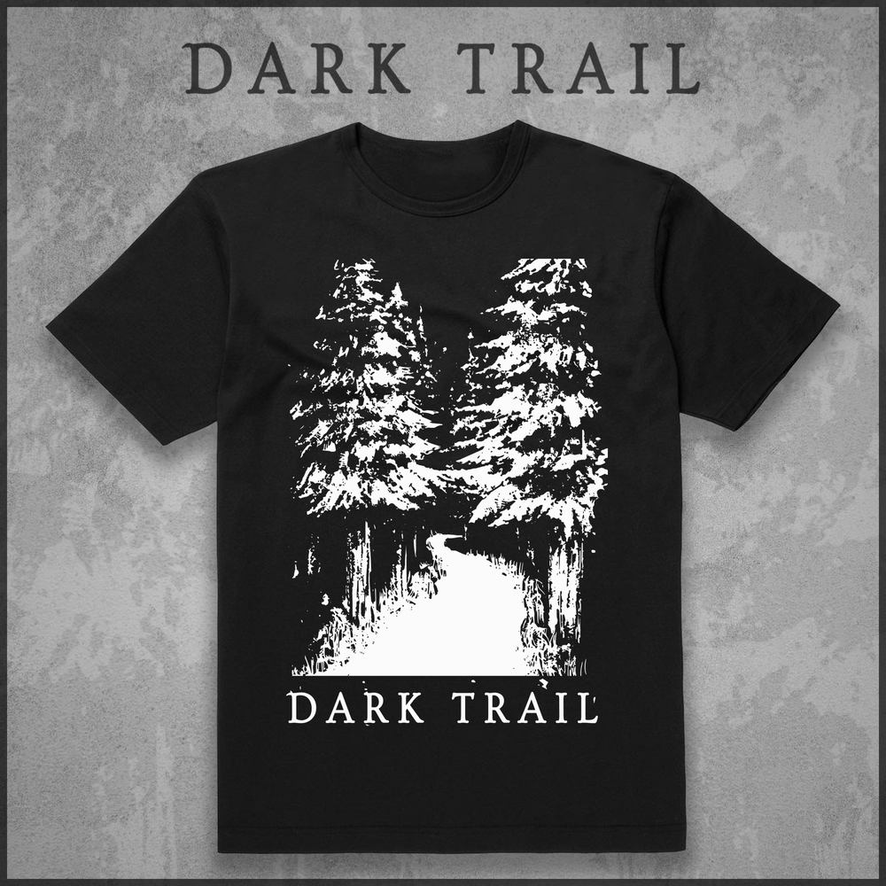 Image of Dark Trail original logo t-shirt (black)