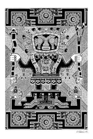 Image of AZTEC GOD poster print