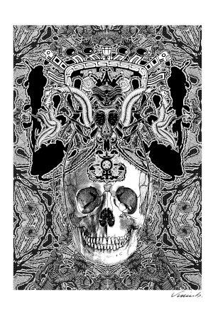 Image of KALEIDOSCOPE SKULL poster print
