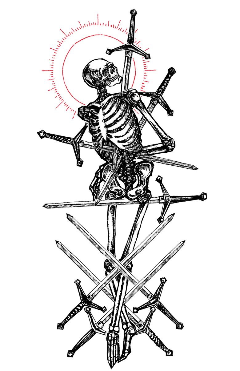 "Image of ""Eight of Swords"" 8.5""x11"" Watercolor Print"